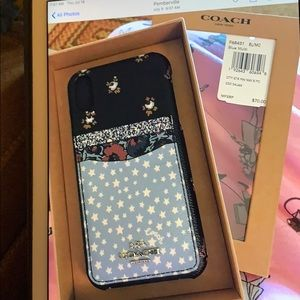 Coach iPhone X case with card poco